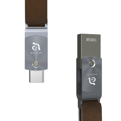 Adam Elements Flash Drive 128GB Roma USB-C/USB 3 - Gray