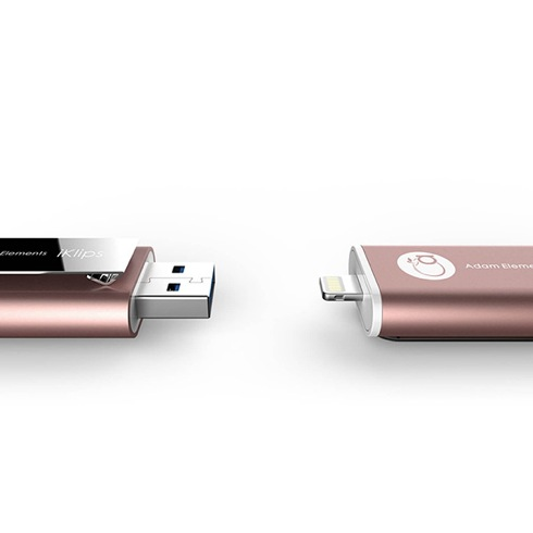 Adam Elements iFlashDrive 32GB iKlips pre iPhone/iPad - Rose Gold