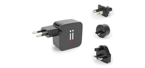 Aiino - Dual USB charger travel kit 2,1A - Black