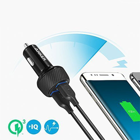 Anker nabíjačka do auta PowerDrive Speed Quick Charge 3.0 - Black