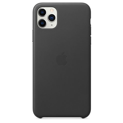 Apple iPhone 11 Pro Max Leather Case - Black