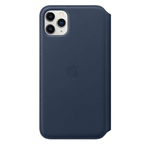 Apple iPhone 11 Pro Max Leather Folio - Deep Sea Blue
