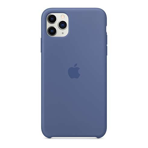 Apple iPhone 11 Pro Max Silicone Case - Linen Blue