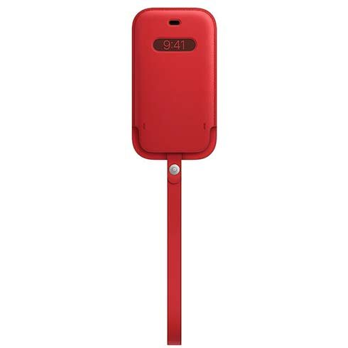 Apple iPhone 12 mini Leather Sleeve with MagSafe - (PRODUCT)RED
