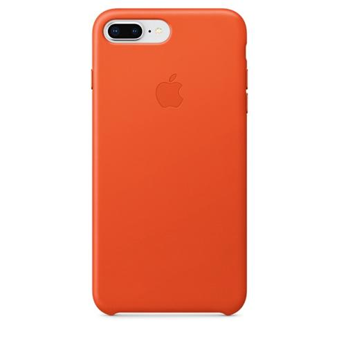 Apple iPhone 8 Plus / 7 Plus Leather Case - Bright Orange