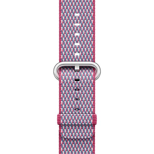 Apple Watch 38mm Berry Check Woven Nylon
