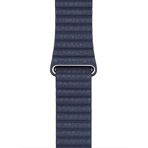 Apple Watch 44mm Diver Blue Leather Loop - Large