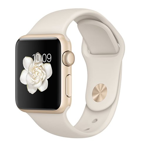 Apple Watch Sport 38mm Gold Aluminium Case with Antique White Sport Band