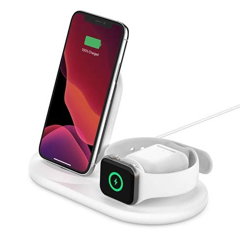 Belkin Boost Charge 3-in-1 Wireless Charger - White