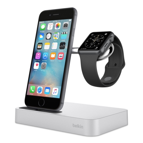 Belkin Valet Charge Dock pre Apple Watch/iPhone - Silver