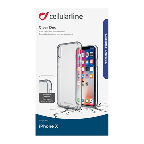 Cellularline Kryt CLEAR DUO pre Apple iPhone X/XS