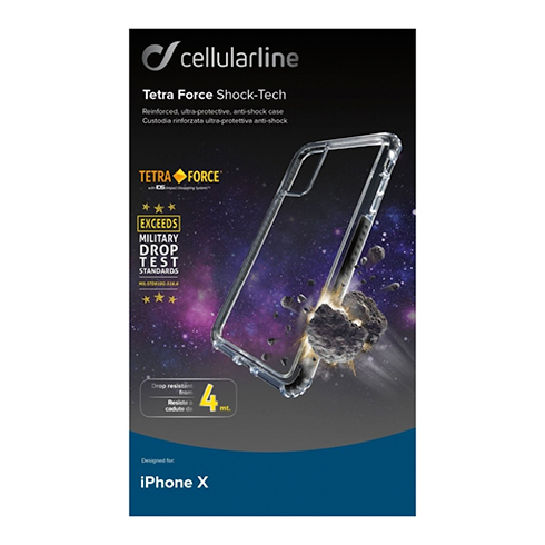 Cellularline TETRA FORCE CASE PRO pre Apple iPhone X, black