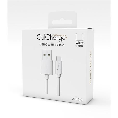 CulCharge 1M cable USB-C to USB White
