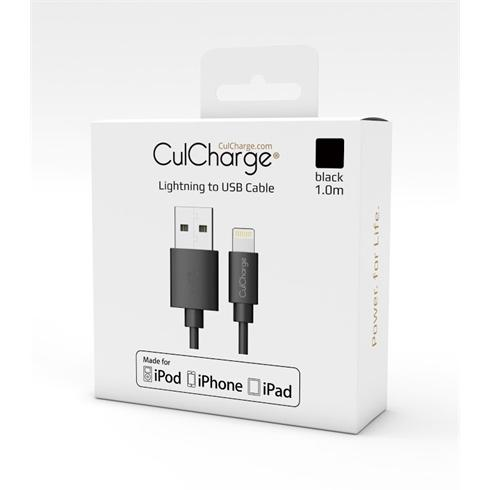 CulCharge Cable 1m MFI Lightning-USB Black