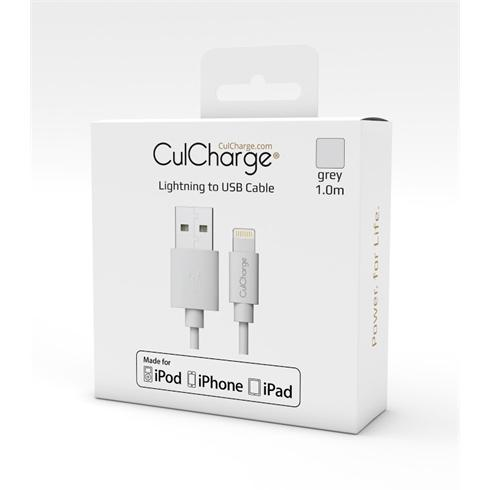 CulCharge Cable 1m MFI Lightning-USB Grey