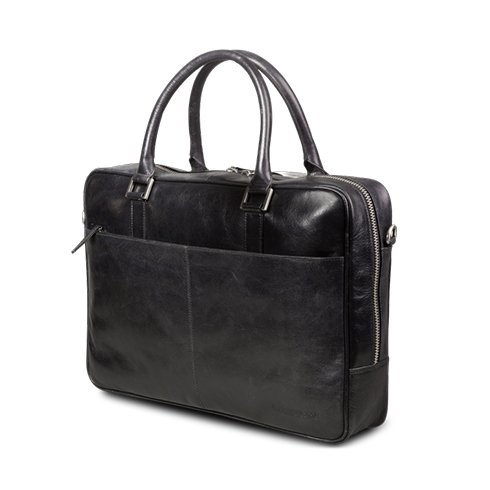 "dbramante1928 Kožená taška Leather business bag Rosenborg up to 14"" - Black"