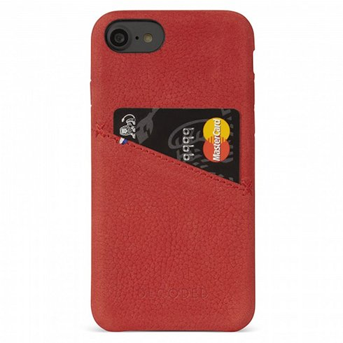 Decoded kryt Leather Case pre iPhone 6/7/8/SE 2020 - Red
