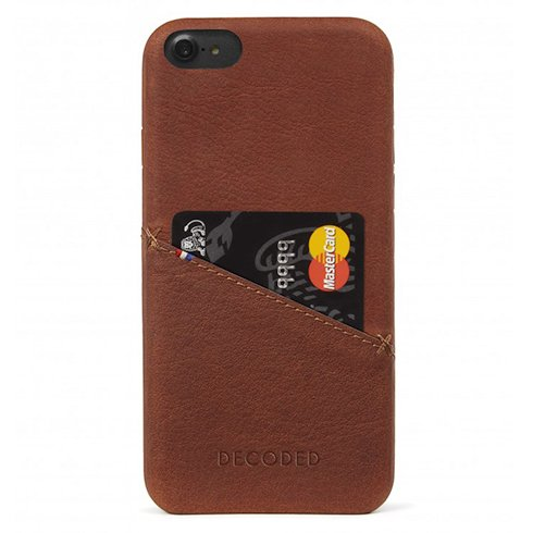Decoded kryt Leather Case pre iPhone 8/7/6s/SE 2020 - Brown