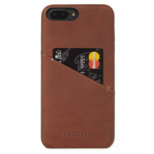 Decoded kryt Leather Case pre iPhone 8 Plus/7 Plus/6s Plus - Brown