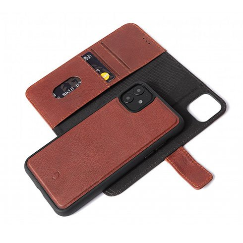 Decoded puzdro Leather Detachable Wallet pre iPhone 11 - Brown