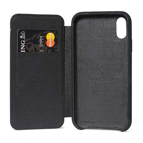 Decoded puzdro Leather Slim Wallet Case pre iPhone XR - Black