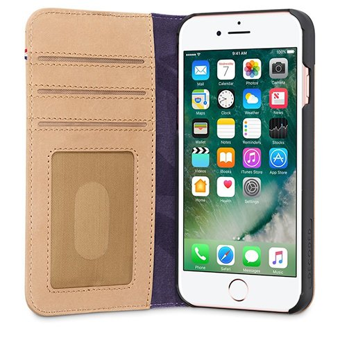 Decoded puzdro Leather Wallet Case 2 pre iPhone 8/7/6s - Sahara