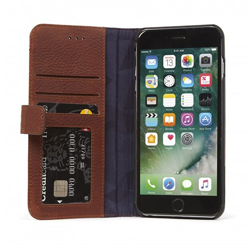 Decoded puzdro Leather Wallet Case pre iPhone 7 Plus/8 Plus - Brown
