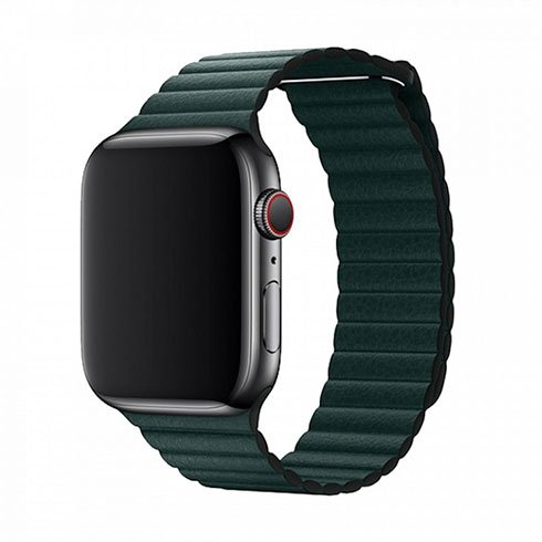 Devia Apple Watch Elegant Leather Loop (40mm) Forest Green