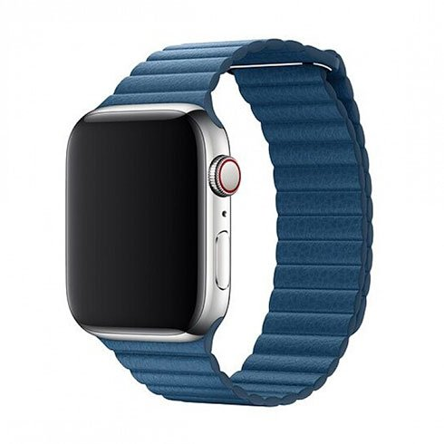 Devia Apple Watch Elegant Leather Loop (44mm) Cape Cod Blue