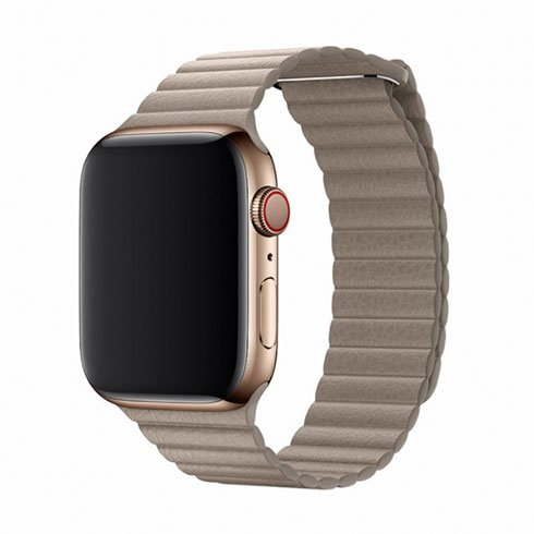 Devia Apple Watch Elegant Leather Loop (44mm) Stone