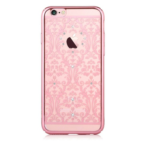 Devia kryt Crystal Baroque pre iPhone 6/6s - Rose Gold