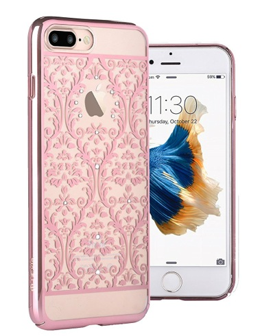 Devia kryt Crystal Baroque pre iPhone 7 Plus - Rose Gold