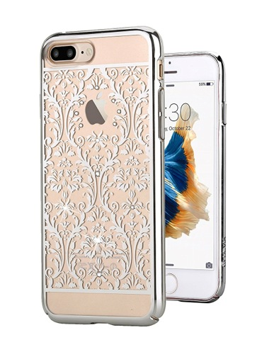 Devia kryt Crystal Baroque pre iPhone 7 Plus - Silver