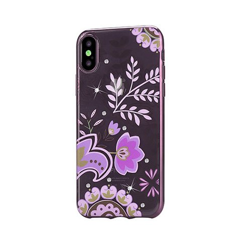 Devia kryt Crystal Bloosom Case pre iPhone X/XS - Rose Gold