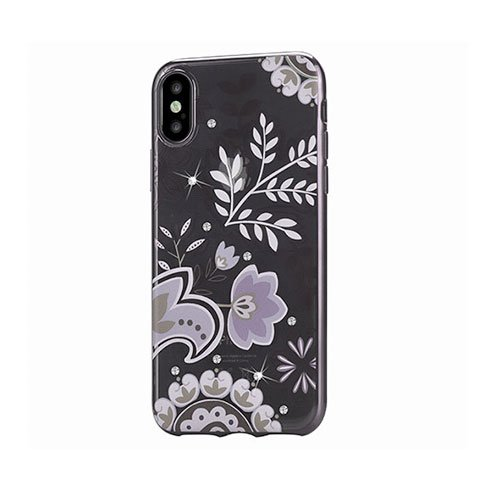 Devia kryt Crystal Bloosom Case pre iPhone X/XS - Silver