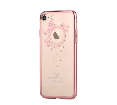 Devia kryt Crystal Garland pre iPhone 7 - Rose Gold