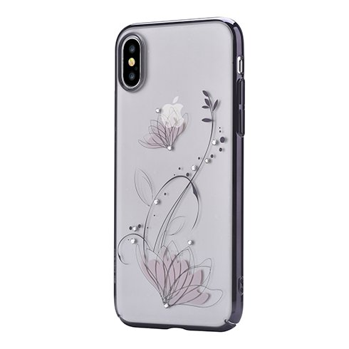 Devia kryt Crystal Lotus Case pre iPhone X XS - Black 0ca1b49ae98