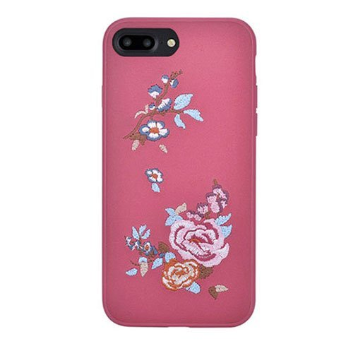 Devia kryt Flower Embroidery 2 pre iPhone 7 Plus/8 Plus - Deep Red