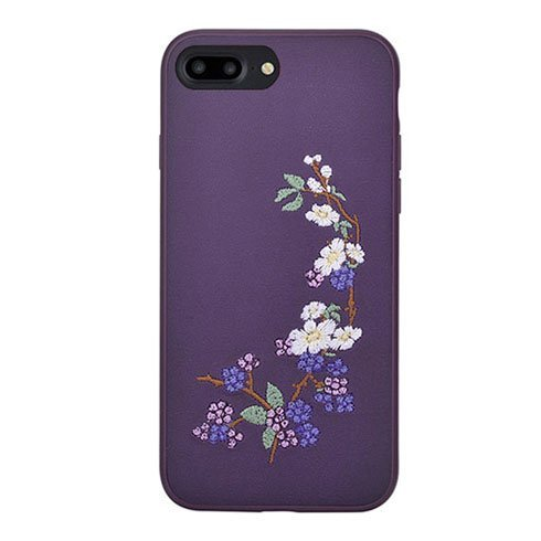 Devia kryt Flower Embroidery 2 pre iPhone 7 Plus/8 Plus - Purple