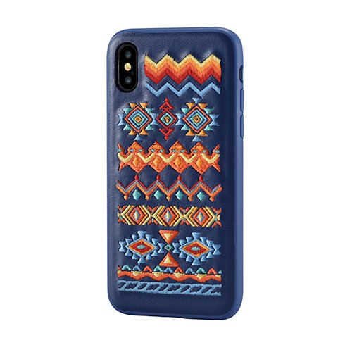 Devia kryt Flower Embroidery Case pre iPhone X/XS - Bohemian