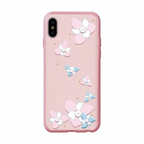 Devia kryt Flower Embroidery Case pre iPhone X/XS - Lanya