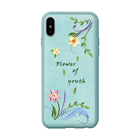 Devia kryt Flower Embroidery Case pre iPhone X/XS - Lanzh