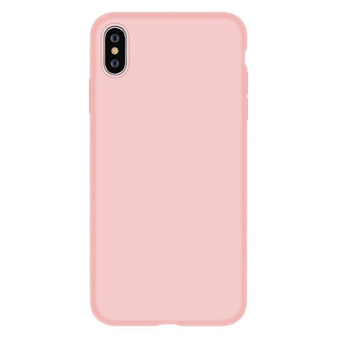 Devia kryt Nature Series Silicone Case pre iPhone XS - Pink