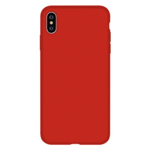 Devia kryt Nature Series Silicone Case pre iPhone XS - Red