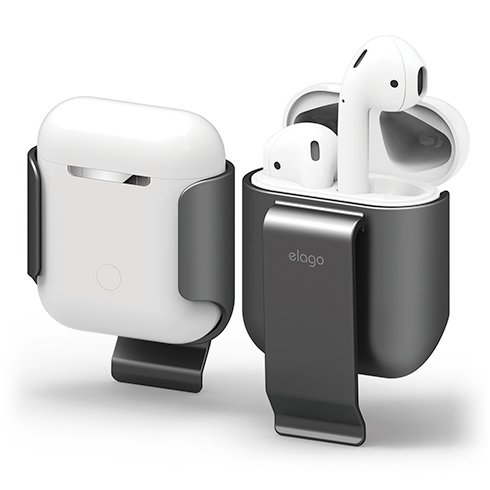 Elago Airpods Carrying Clip - Metalic Dark Gray
