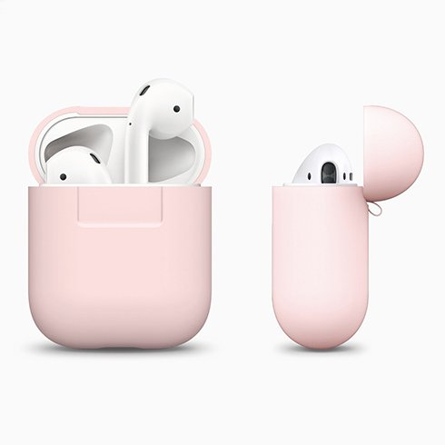 Elago Airpods Silicone Case - Lovely Pink