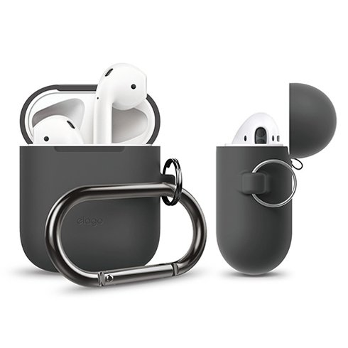 Elago Airpods Silicone Hang Case - Dark Gray