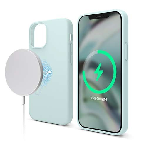 Elago kryt Silicone Case Magsafe pre iPhone 12 mini - Mint