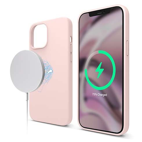 Elago kryt Silicone Case Magsafe pre iPhone 12 Pro Max - Lovely Pink
