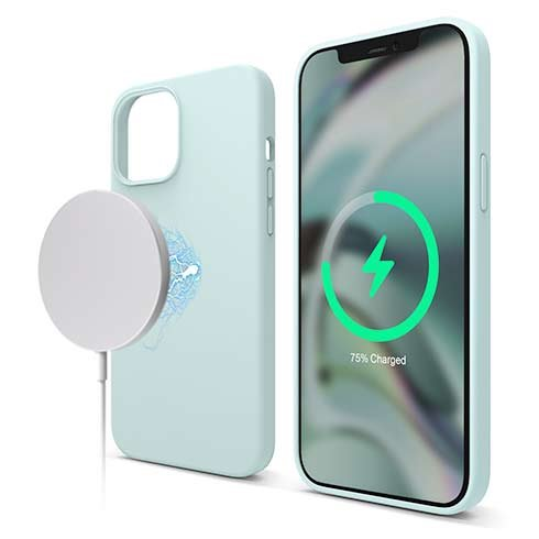 Elago kryt Silicone Case Magsafe pre iPhone 12 Pro Max - Mint